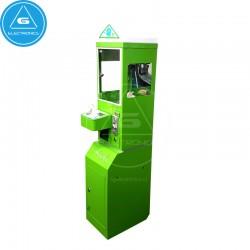 Mini máquina de venta con grúa (color verde)