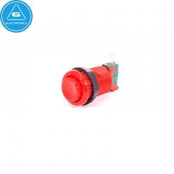 BL - Pulsador Arcade tipo americano cóncavo - BaoLian - Rojo