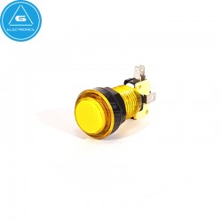 GEN - Pulsador LED transparente - 24-28mm - microswitch Zippy - Amarillo