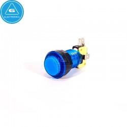 GEN - Pulsador LED transparente - 24-28mm - microswitch Zippy - Azul