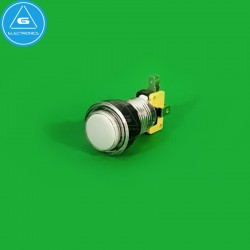 GEN - Pulsador LED transparente - 24-28mm - microswitch Zippy - Blanco