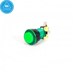 GEN - Pulsador LED transparente - 24-28mm - microswitch Zippy - Verde