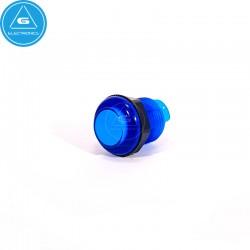 BL - Pulsador LED transparente - 28mm - BaoLian - Azul