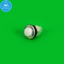 BL - Pulsador LED transparente - 28mm - BaoLian - Blanco