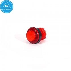 BL - Pulsador LED transparente - 28mm - BaoLian - Rojo