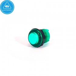 BL - Pulsador LED transparente - 28mm - BaoLian - Verde