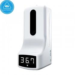Termómetro K9 infrarrojo sin contacto con dispensador de alcohol